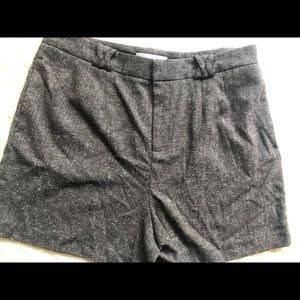❤️French Connection Tweed Shorts Size 14 Dark Gray